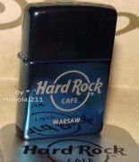 Hard Rock Cafe WARSAW ZIPPO Lighter blue