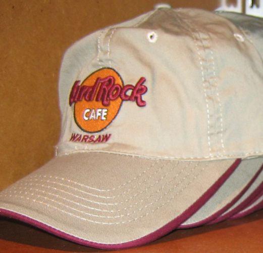Hard Rock Cafe WARSAW BASEBALL CAP Khaki Tan Hat NEW WARSAW CAP Khaki  ccba137cd49