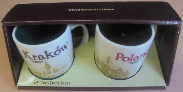Starbucks Citymug Krakow Poland 2012 City Mini Cup Set