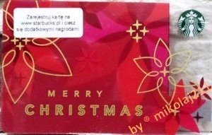 starbucks poland warsaw 2014 gift card merry christmas prepaid un used register your card - Starbucks Merry Christmas