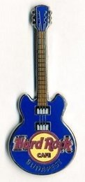 Hard Rock Cafe BUDAPEST 2012 Core Guitar blue Pin