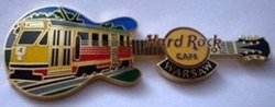 Hard Rock Cafe WARSAW 2007 RAIL TRAM error Pin LE 15
