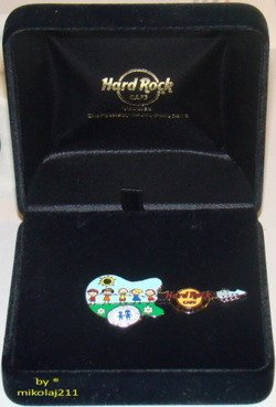 Hard Rock Cafe WARSAW 2013 Nobody's Children Foundation Guitar Silver Pin LE 10