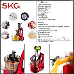 SKG 2088 Low Speed Juicer Big Calibre Slow Juicer