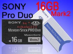 Sony 16GB MEMORY STICK PRO DUO Mark2 MS Card 16 gb PSP