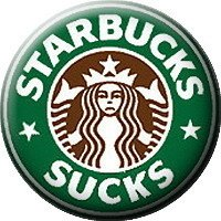 Starbucks Sucks Coffee Logo Lapel PIN ( Starbucks ) Ø 25mm