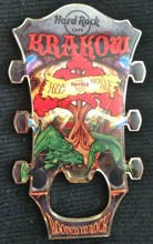 Hard Rock Cafe KRAKOW 2013 Guitar Magnet Bottle Opener