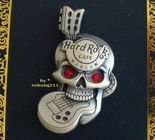 Hard Rock Cafe WARSAW 2012 - 3D Skull GEM EYES Pin LE