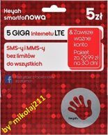 SIM CARD Prepaid Heyah 5 Smart M 5GB