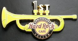 Hard Rock Cafe KRAKOW 2012 First Anniversary Pin
