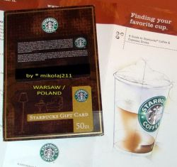 Starbucks POLAND Warsaw 2010 gift card 50 PLN - Valid - full