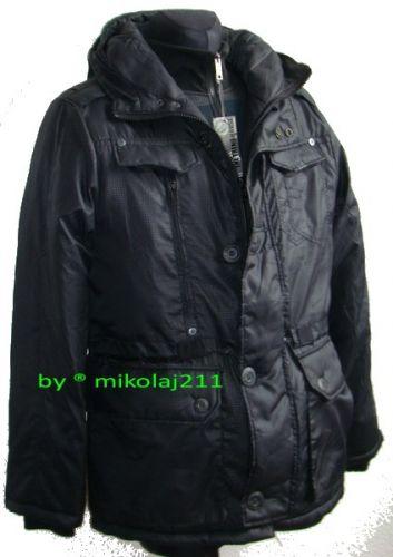 KURTKA zimowa meska 7232 czarna M XXL