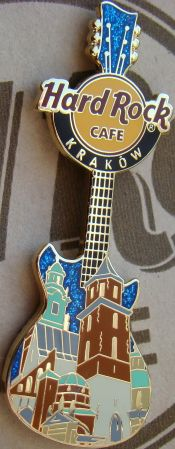 Hard Rock Cafe KRAKOW 2008 Wawel Cathedral Guitar PIN