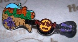 Hard Rock Cafe KRAKOW 2010 Wawel Castle Guitar PIN