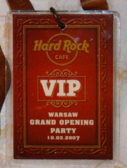 Hard Rock Cafe WARSAW '07 Staff GO Party Card + Lanyard