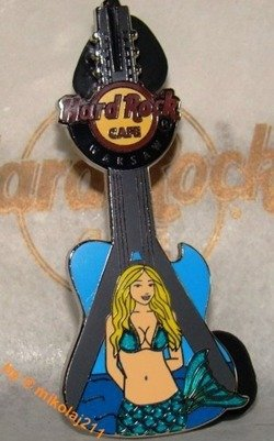 Hard Rock Cafe WARSAW 2011 Mermaid Bridge Guitar Pin