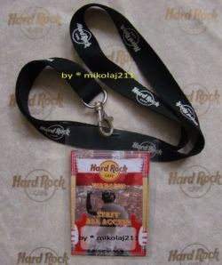 Hard Rock Cafe WARSAW Staff All Access Card + Lanyard