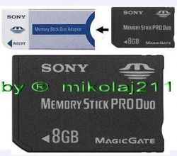 Sony 8GB MEMORY STICK PRO DUO MS Card 8 gb PSP
