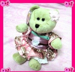 Starbucks Bearista 2011 Japan Sakura  Plush Bear 100th LE